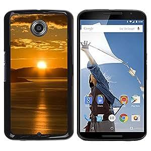 TopCaseStore / la caja del caucho duro de la cubierta de protección de la piel - Sunset Beautiful Nature 65 - Motorola NEXUS 6 / X / Moto X Pro