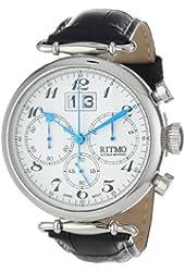 Ritmo Mundo Unisex 701/1 SS Corinthian Classic Quartz Chronograph Three Oversized Subdials Watch