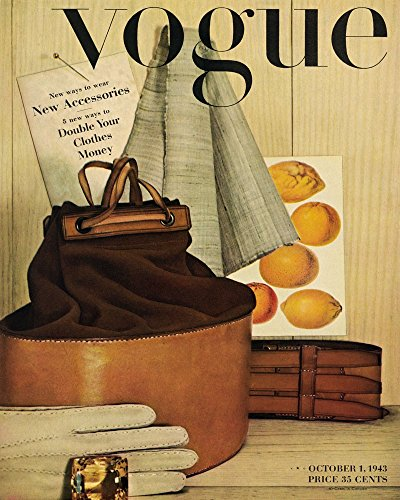 1943 Vogue Fashion New Clothes Accessories Cover Poster Magazine 16