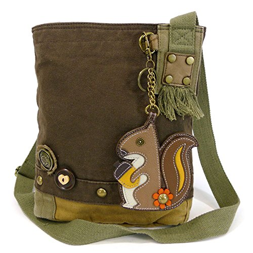 Patch Crossbody Bag-Squirrel(DarkBrn)