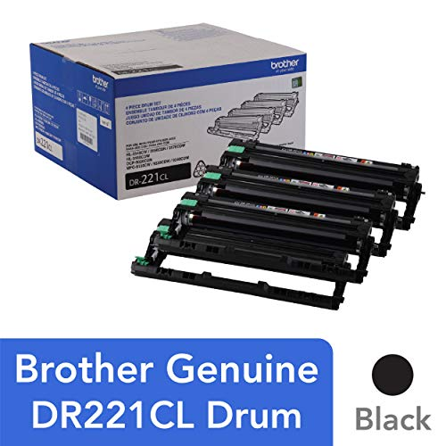 Laser Toner Drum Kit - Brother Genuine Drum Unit, DR221CL, Seamless Integration, Yields Up to 15,000 Pages, Color
