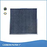 25x25x1 Activated Carbon Particles A/C Furnace Air Filters, Steel Frame