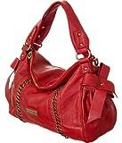 "Red Large Vitalio Vera ""Madison"" Crossbody Satchel, Bags Central"