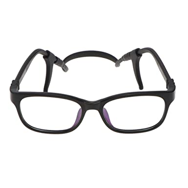 905b6b81a8 hibote Girls Boys Glasses - TR90 + Silicone - Clear Lens Glasses Frame Geek Nerd  Eyewear Eyeglasses with Car Shape Glasses Case - 18071011  Amazon.co.uk  ...