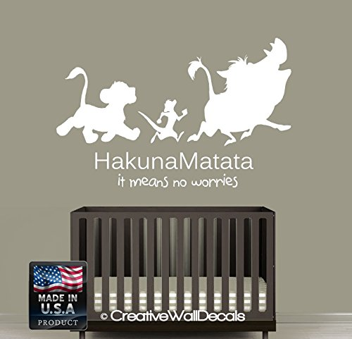 Wall Decal Vinyl Sticker Decals Art Decor Design Sign Quote Hakuna Matata Timon Pumba Kids Lion King Bedroom Dorm Nursery (R1239) by CreativeWallDecals (Image #5)