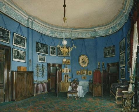 oil-painting-hau-edward-petrovichinteriors-of-the-small-hermitagethe-bedroom-of-crown-prince-nikolai