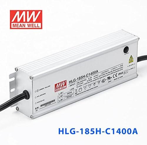 la unidad en modo conmutado para diodos LED 200W Meanwell HLG-185H-C1400A PWR Sup