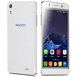 """Xgody X600 Unlocked 5"""" Android 5.1 Quad Core Dual SIM IPS Smartphone 3G GSM Cell phone WIFI (White)"""