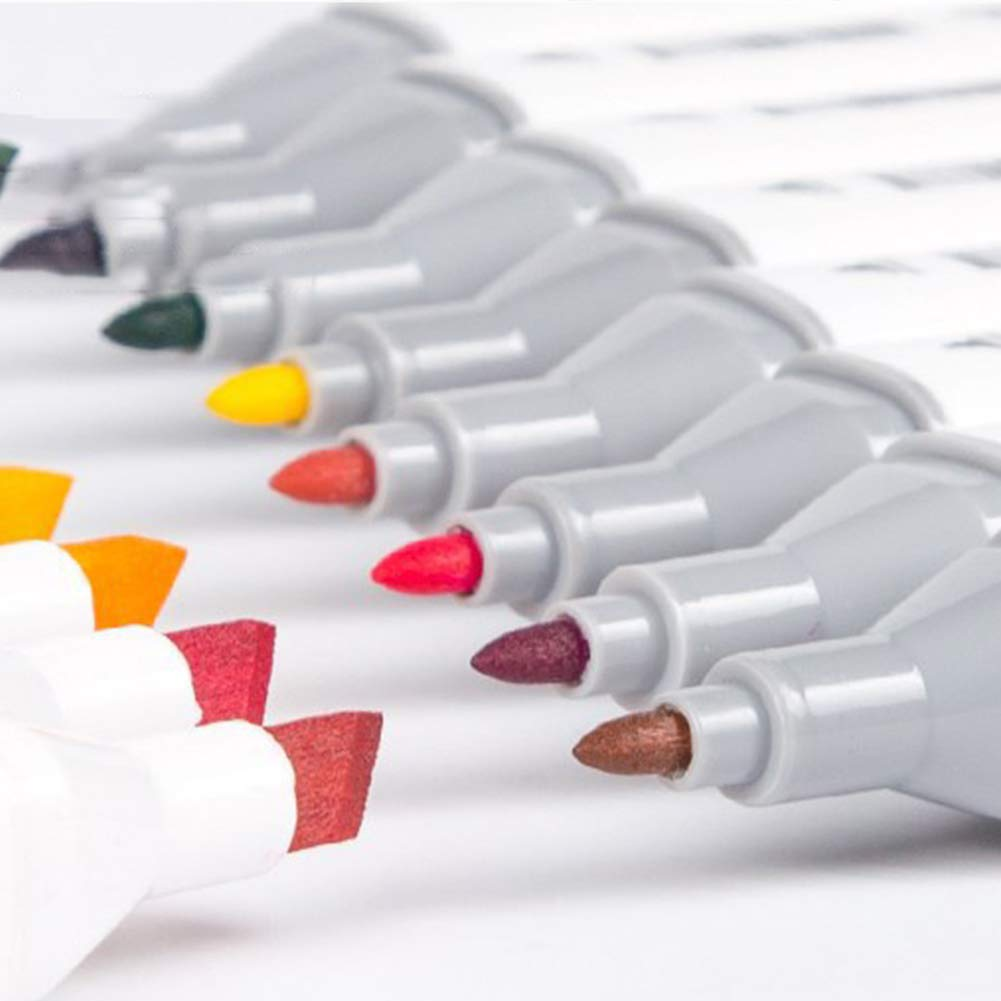 80pack 80pack Marcadores Met/álicos Dise/ño De Animaci/ón De Rotuladores Rotativos De Rotuladores De Rotuladores De Gr/áficos Multicolores Para Colorear Dibujos Resaltar 40 Pack 60pck