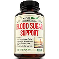 Blood Sugar Supplement for Healthy Heart - Controls Glucose, Insulin & Cholesterol. Supports Immune Health. Vitamin C E, Biotin, Cinnamon, Magnesium, L-Taurine, Zinc, Cayenne, Natural Herbs & Minerals