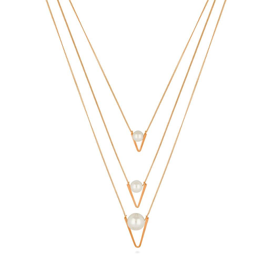 Amazon Com Berricle Rose Gold Flashed Base Metal Imitation Pearl
