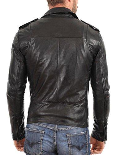 Black Cappotto Pelle In Biker Uomo Slim Giacca Auk029 Giacche Moto Outwear Da Fit x7aYwTWq51