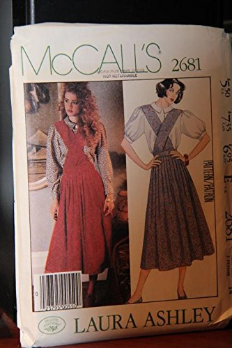 Ashley Jumper Laura - McCall's Pattern 2681 Miss Size 14 / Laura Ashley / Misses' Jumper And Blouse