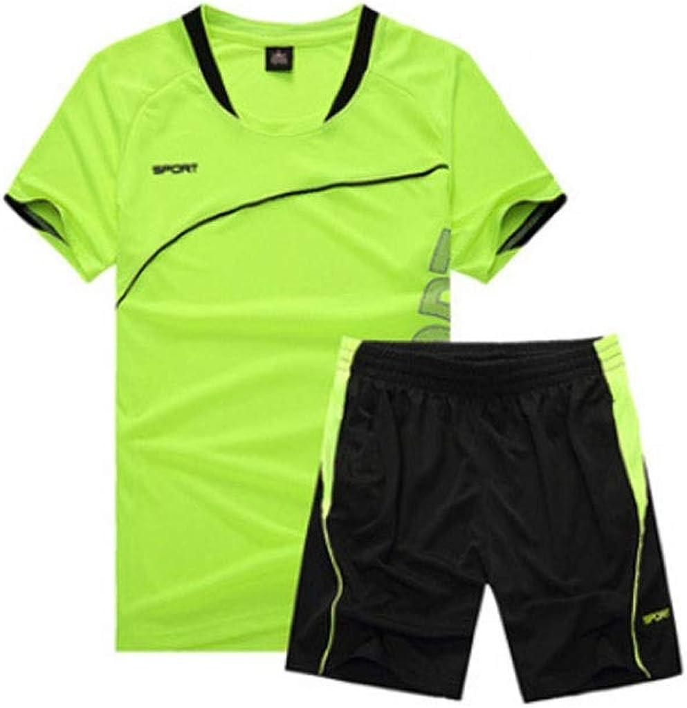 Conjunto de Manga Corta y Pantalones Cortos para Hombres Conjunto de Ropa Deportiva para Correr Conjunto de Deportes Casual