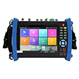 Wsdcam 7 Inch Retina Display IP Camera Tester Security CCTV Tester CVBS Monitor Analog Tester with SDI/TVI/AHD/CVI/DMM/TDR/Optical Power Meter/VFL/POE/WIFI/8G TF Card/4K H.265/HDMI In&Out/Firmware Update Upgraded 8600MOVTSADH-Plus