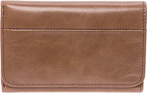 Hobo Womens Leather Vintage Jill Tri Fold Wallet (Ash)