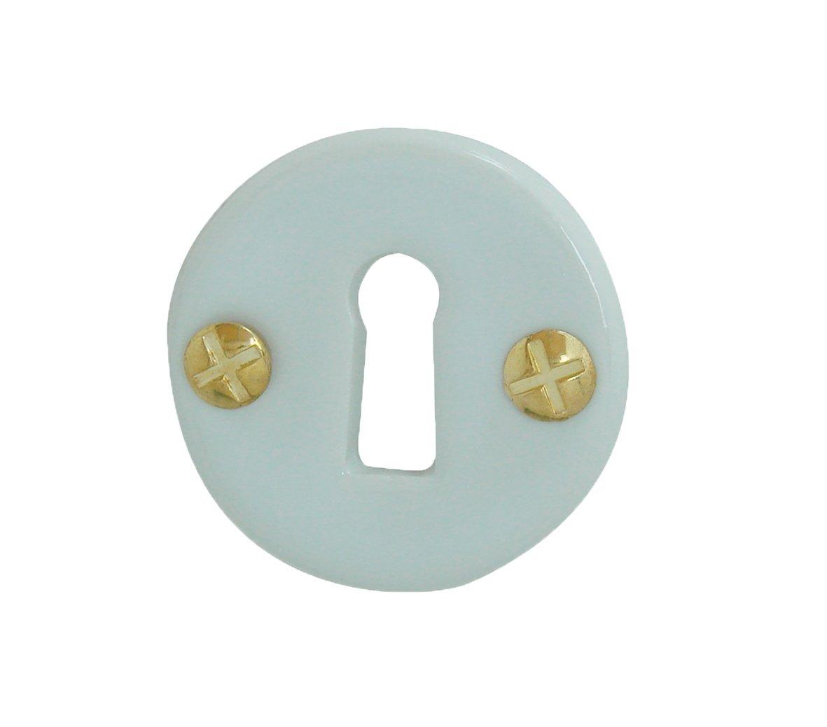 Rosace de fonction porcelaine Blanc trou serrure DOORTOOLS