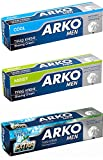 Arko Shaving Cream Variety Pack, Extra Fresh/Cool/Moist, 3 Count