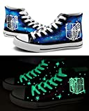 Attack on Titan Shingeki No Kyojin Wings of Freedom Cosplay Shoes Canvas Shoes Sneakers Luminous