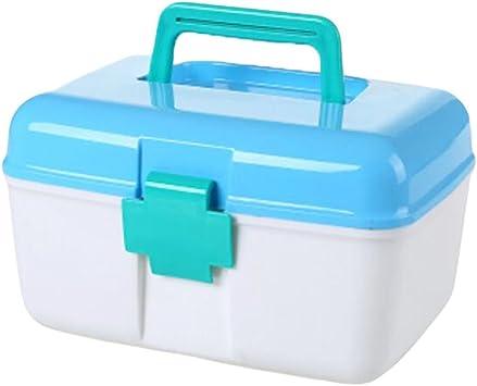 Botiquín de primeros auxilios/Estuche de almacenamiento para medicina/ Estuche de pastillas/Estuche-Azul: Amazon.es: Salud y cuidado personal