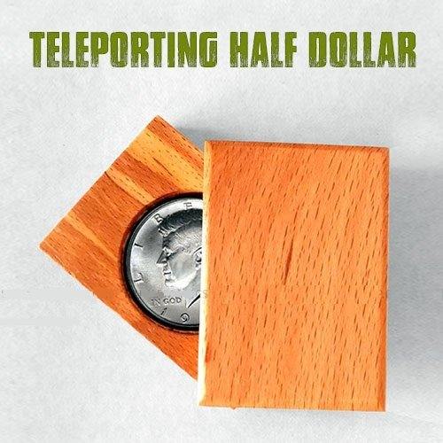 Magician's Teleporting Half Dollar or 2 Rupee Coin Real Illusion Magic Trick (Best Pocket Magic Trick)