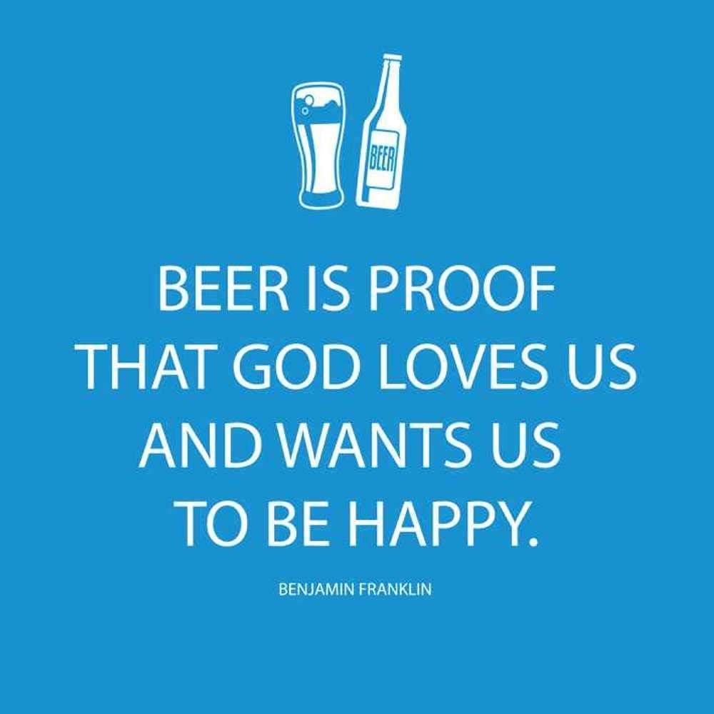 Paperproducts Design Beverage Paper Napkins (20 Pack), Beer is Proof That God Loves Us, Multicolor, 5