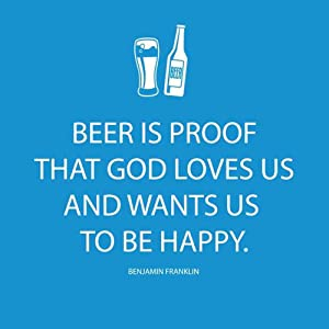 Paperproducts Design Beverage Paper Napkins (20 Pack), Beer is Proof That God Loves Us, Multicolor, 5