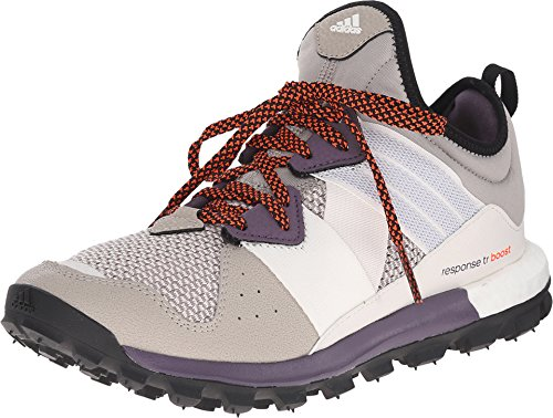 adidas outdoor Response Trail Boost Trail Running Shoe - Women's Light Brown/White/Solar Red 10