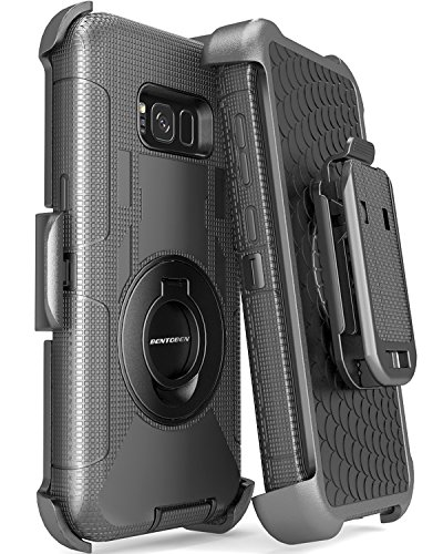 S8 Plus Case, Galaxy S8 Plus Case, BENTOBEN Kickstand Belt Clip Shockproof Heavy Duty Hybrid Full Body Rugged Holster Protective Case for Samsung Galaxy S8 Plus(6.2 inch)