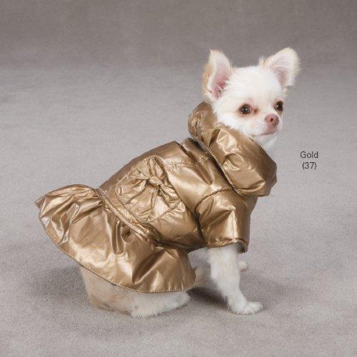 Dog Winter Dazzle Puffy Coat X Small Gold Color