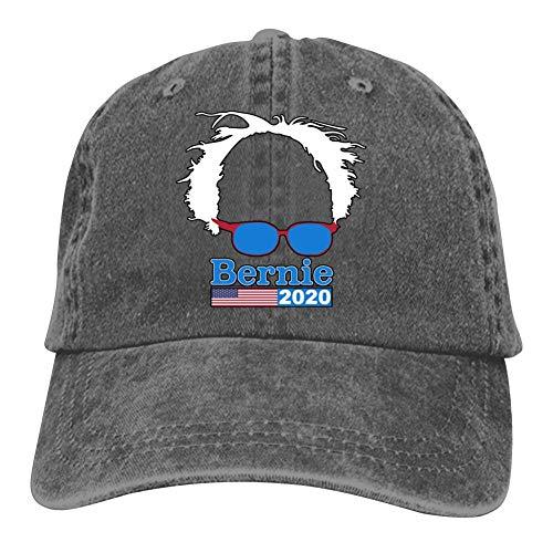 GCASST Support Bernie 2020 Baseball Cap, Cotton Denim Adjustable Cowboy Hat for Men Women Boys Girls Charcoal