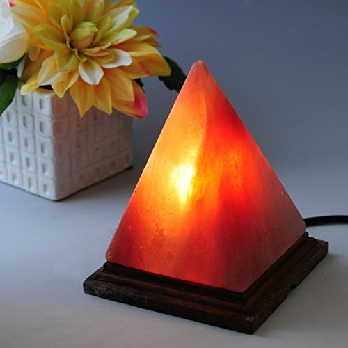 Natural Himalayan Salt Lamp Hand Carved- Pyramid Rock Salt Lamps 7-9 inches by A-Star(Tm) by A-STAR(Tm)