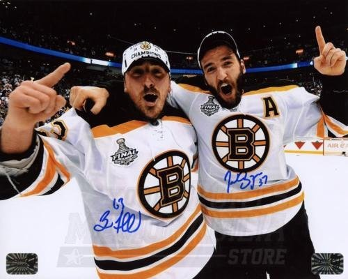Patrice Bergeron Brad Marchand Bruins Signed Autographed Cup Celebration 8x10 Your Sports Memorabilia Store