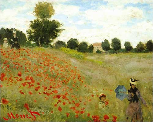 The Poppy Field, near Argenteuil by Claude Monet. Art Poster Print 20