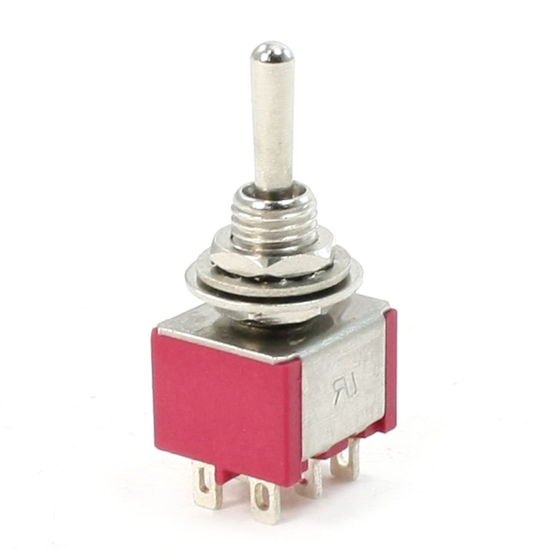 10 Pcs DPDT ON-OFF-ON Momentary Mini Toggle Switch AC 250V//2A 120V//5A