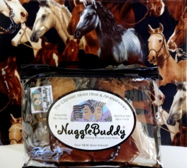 nugglebuddy-microwaveable-moist-heat-aromatherapy-organic-rice-pack-cold-pack-combo-for-horse-lovers