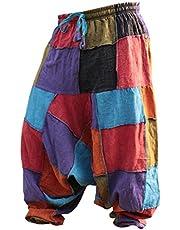 Shopoholic Fashion Unisex Hippy Patcwork Hippy Harem Trouser
