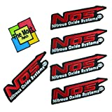 Lot of 6 (5+1) Nos Nitrous Oxide Systems Racing Car Vintage Logo Embroidered Iron/Sew On Patch Variations