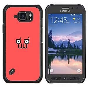 LECELL--Funda protectora / Cubierta / Piel For Samsung Galaxy S6Active Active G890A -- Divertido minimalista Squid Cara Z0Idberg --