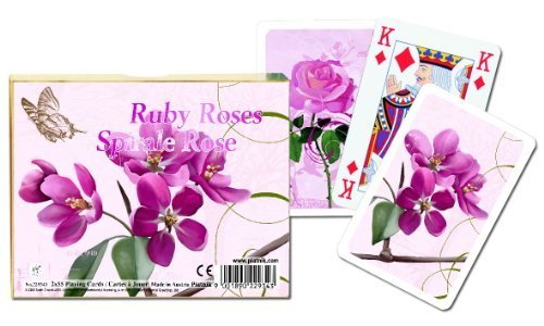 Piatnik - Ruby Roses - Playing Cards - Gibsons Games by Piatnik