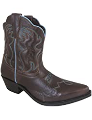 Smoky Mountain Womens Brown Juniper Short Snip Toe Western Cowboy Boot