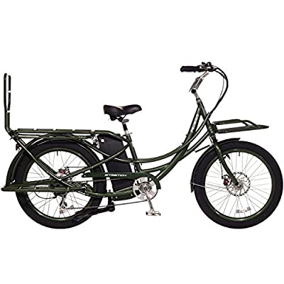Pedego Stretch Electric Cargo Bike - Olive - 48v 13Ah Battery