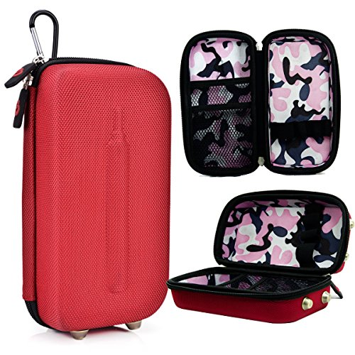 Red Universal Portable Carrying Game Hard Case Shell fits