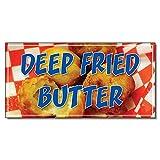 butter restaurant - Deep Fried Butter Restaurant Café Bar DECAL STICKER Retail Store Sign 9.5 x 24 inches