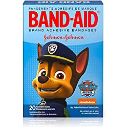 Band-Aid Brand Adhesive Bandages for Kids & Toddlers, Nickelodeon PAW Patrol, Assorted Sizes, 20 ct