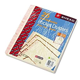 SMD68030 - Smead MLA Self-Adhesive Folder Dividers with 5-1/2 Pockets on Both Sides