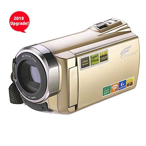 HAUSBELL Upgraded Camcorder 8.0Mega Pixels CMOS Sensor HDV-5052 IR Digital Video Camera Digital Camcorder WiFi Video Recorder 1080P Full HD/30fps Digital Zoom Camera Recorder HDMI Output (Smart Camcorder)