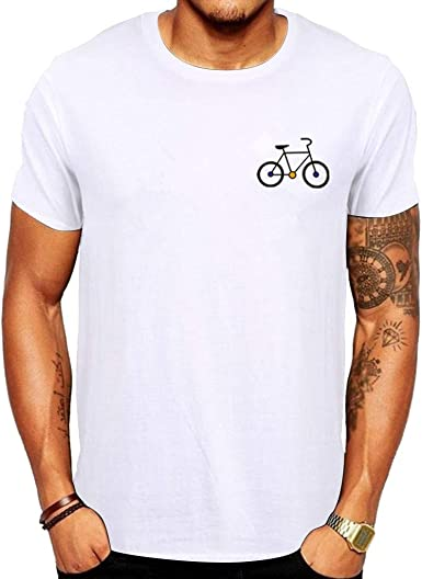 Tefamore Camiseta para Hombre Verano Bicicleta de Dibujos Animados ...