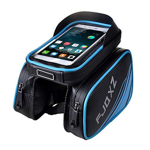 FJQXZ Bike Bag Bicycle Pannier Pouch Rain proof Handlebar Saddle Bag with Touch Screen Phone Case