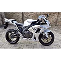 Silver White Black Fairing Injection for 2006-2007 Honda CBR 1000 RR 1000RR
